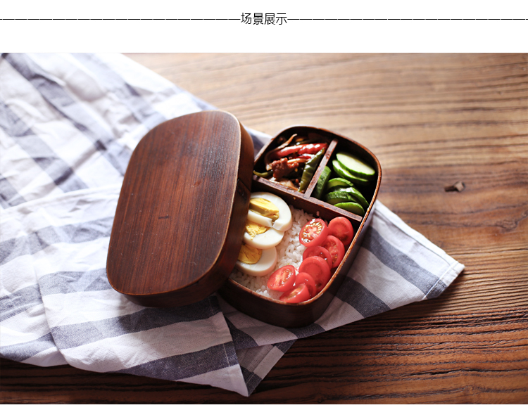 japanese style natural willow fir wood lunch box wooden bento sushi boxes bowl ebay. Black Bedroom Furniture Sets. Home Design Ideas